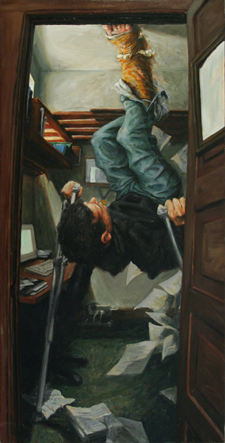 Guy Kinnear, The Ninth Ceiling: Last Chance Repair, 2008, Oil on panel, 24 x 36 in.