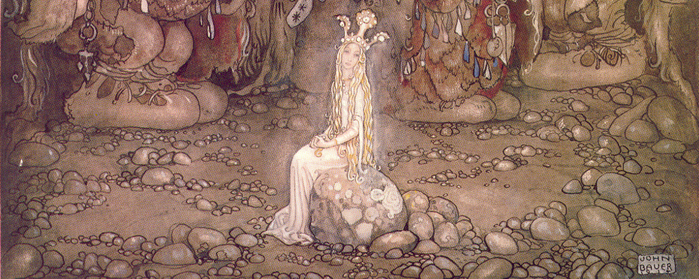 Illustration by John Bauer for Walter Stenstrom's <em>The Boy and the Trolls</em>
