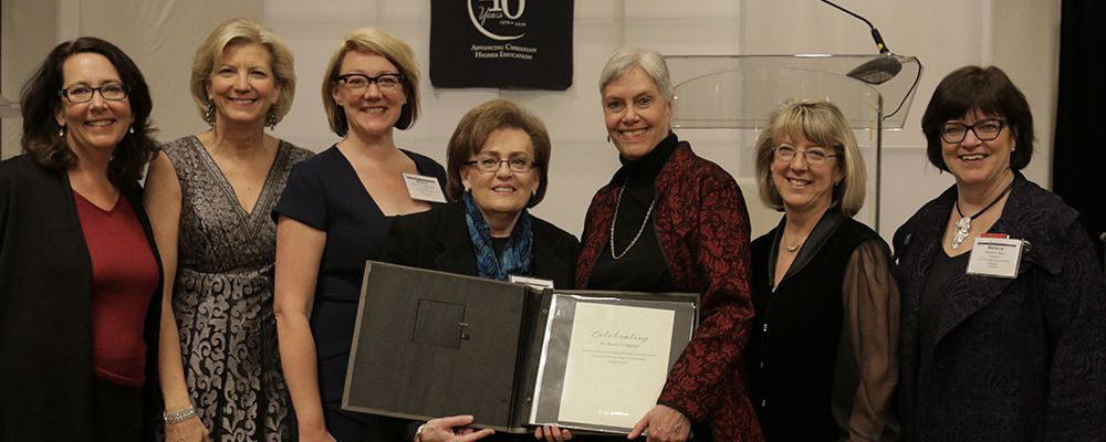 Karen A. Longman, Ph.D., receives the 2016 John R. Dellenback Global Leadership Award