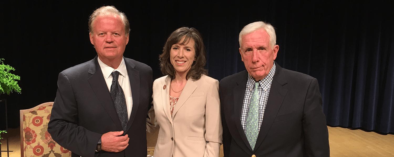 From left: Tony Hall (D-OH), Jennifer Walsh, and Frank Wolf (R-VA).