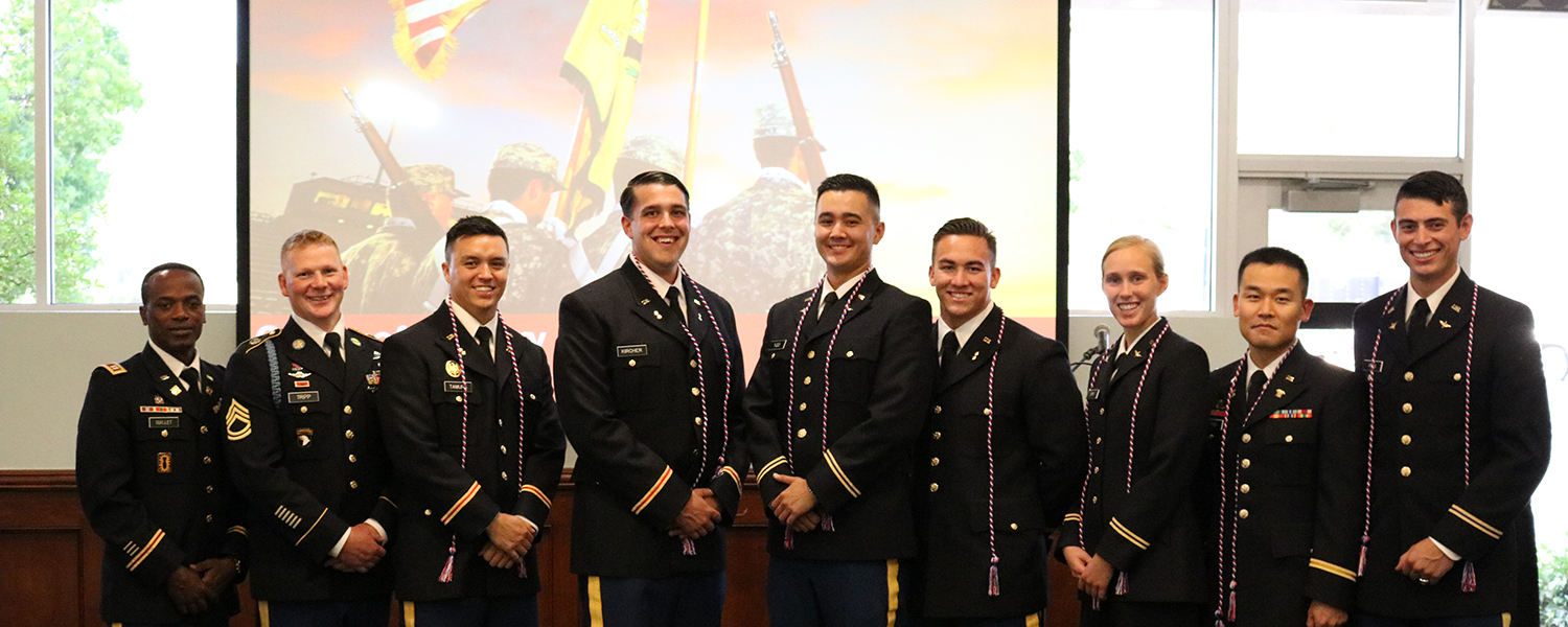 APU's ROTC graduating cadets were honored at the commissioning ceremony.