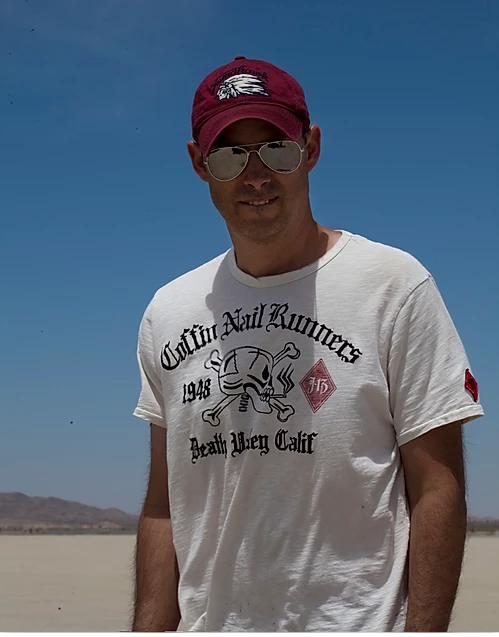 Jesse filming at El Mirage's dry lake bed