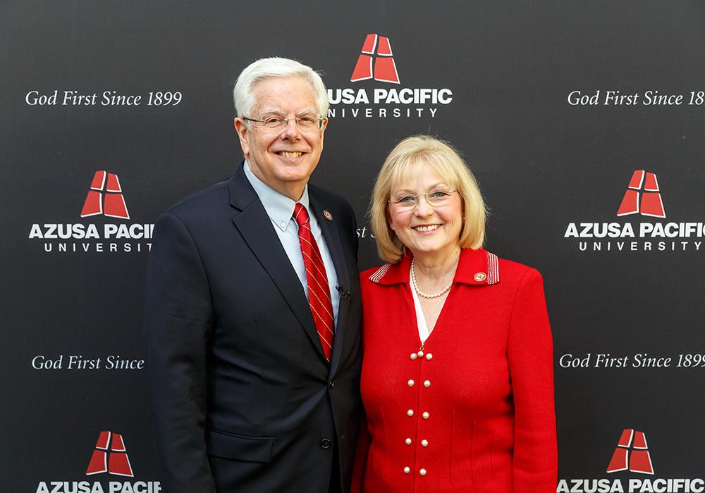 President Paul Ferguson and his wife, Grace