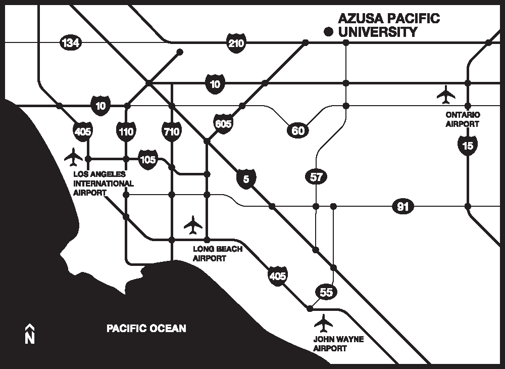 Map of airports near Azusa