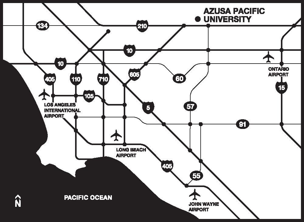 Map of airports near Azusa