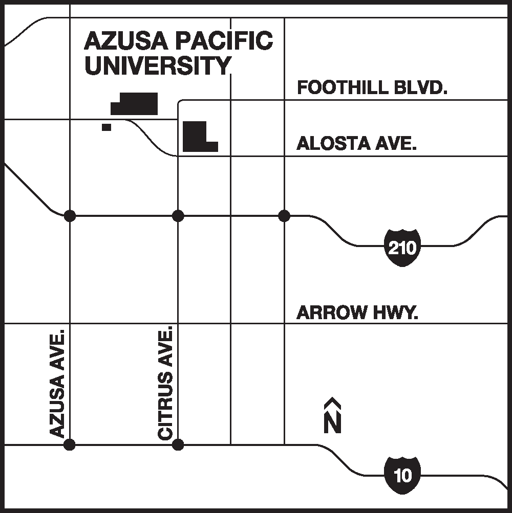 Map of the Azusa area
