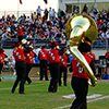 <strong>APU Marching Band</strong><br>The APU Marching Band performs at every home game, travels as a guest band for high schools in the Los Angeles area, participates regularly in the annual Azusa Golden Days Parade, and makes appearances at the L.A. County Fair.