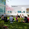 <strong>Outdoor Class</strong><br>California's sunny weather often allows professors to teach their classes outdoors. Designed with this in mind, the university has several spots conducive to a class session under the sun.
