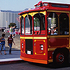 <strong>APU Trolley</strong><br>Four APU trolleys shuttle students, faculty, staff, and visitors between the university's East and West Campuses Monday through Friday.