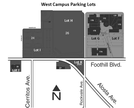 West Campus Parking Map (Lots F through I)