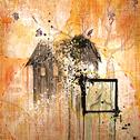Marissa Quinn<br><em>Seasons</em>, 2011<br>Oil and mixed media on wood panel<br>4 x 4 ft.