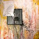 Marissa Quinn<br><em>Windows of Patterns</em><br>Oil and mixed media on wood panel<br>4 x 4 ft.