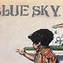 Steven Felix-Jager<br><em>Untitled (Blue Sky)</em>, 2015<br>Oil on canvas