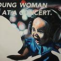 Steven Felix-Jager<br><em>Untitled (Young Woman at a Concert)</em>, 2015<br>Oil on canvas